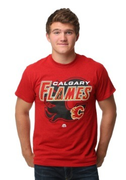 Calgary Flames Wrist Shot Men's T-Shirt