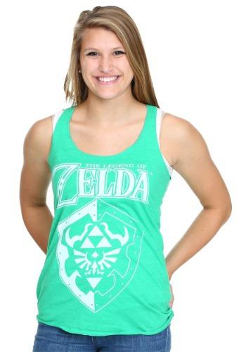 Legend Of Zelda Logo Shield Juniors Racerback Tank