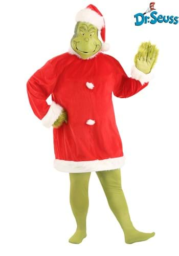 Adult Plus Size Santa Grinch Costume
