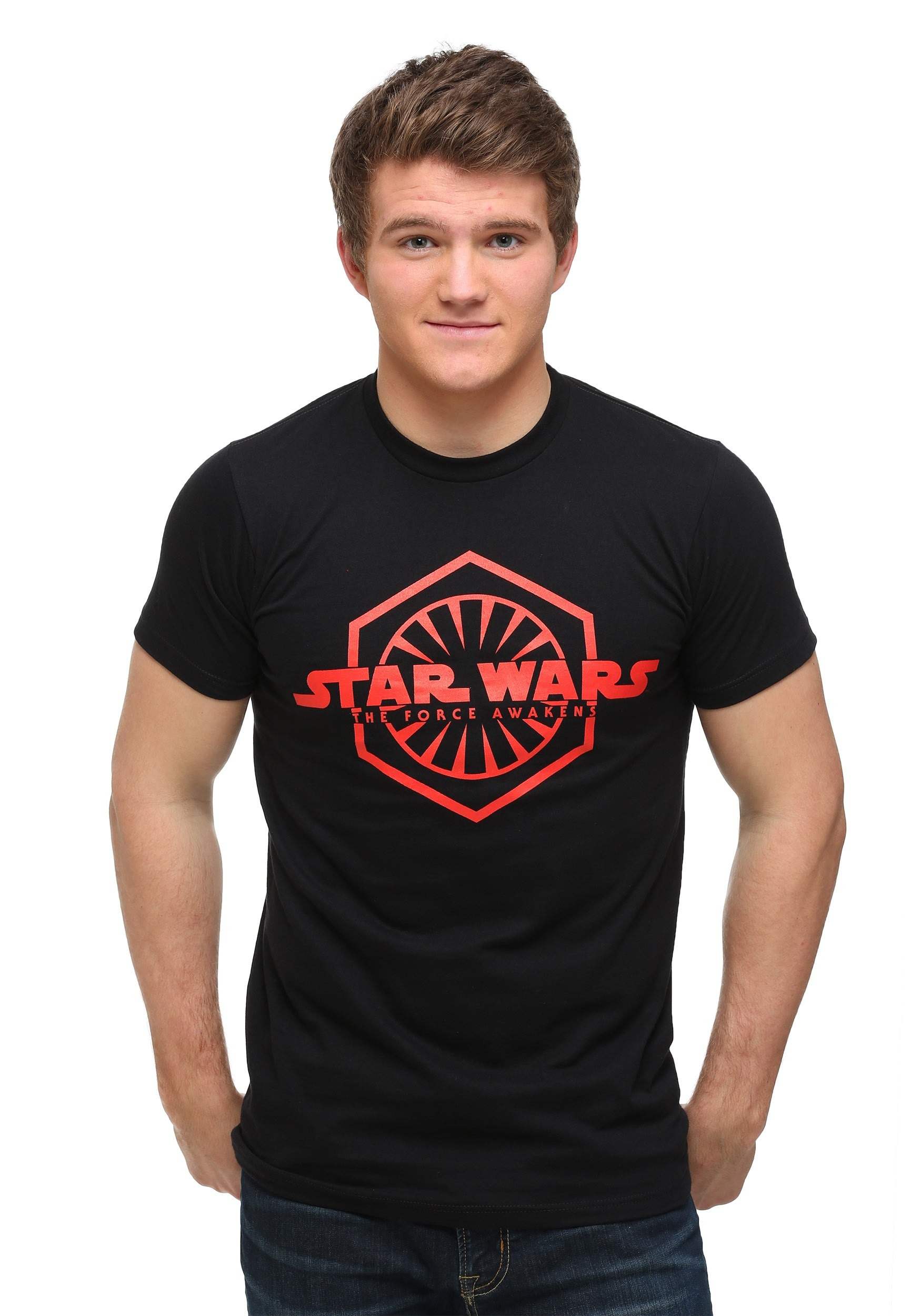 Star wars episode 7 logo with first order sign t shirt for Order shirts with logo
