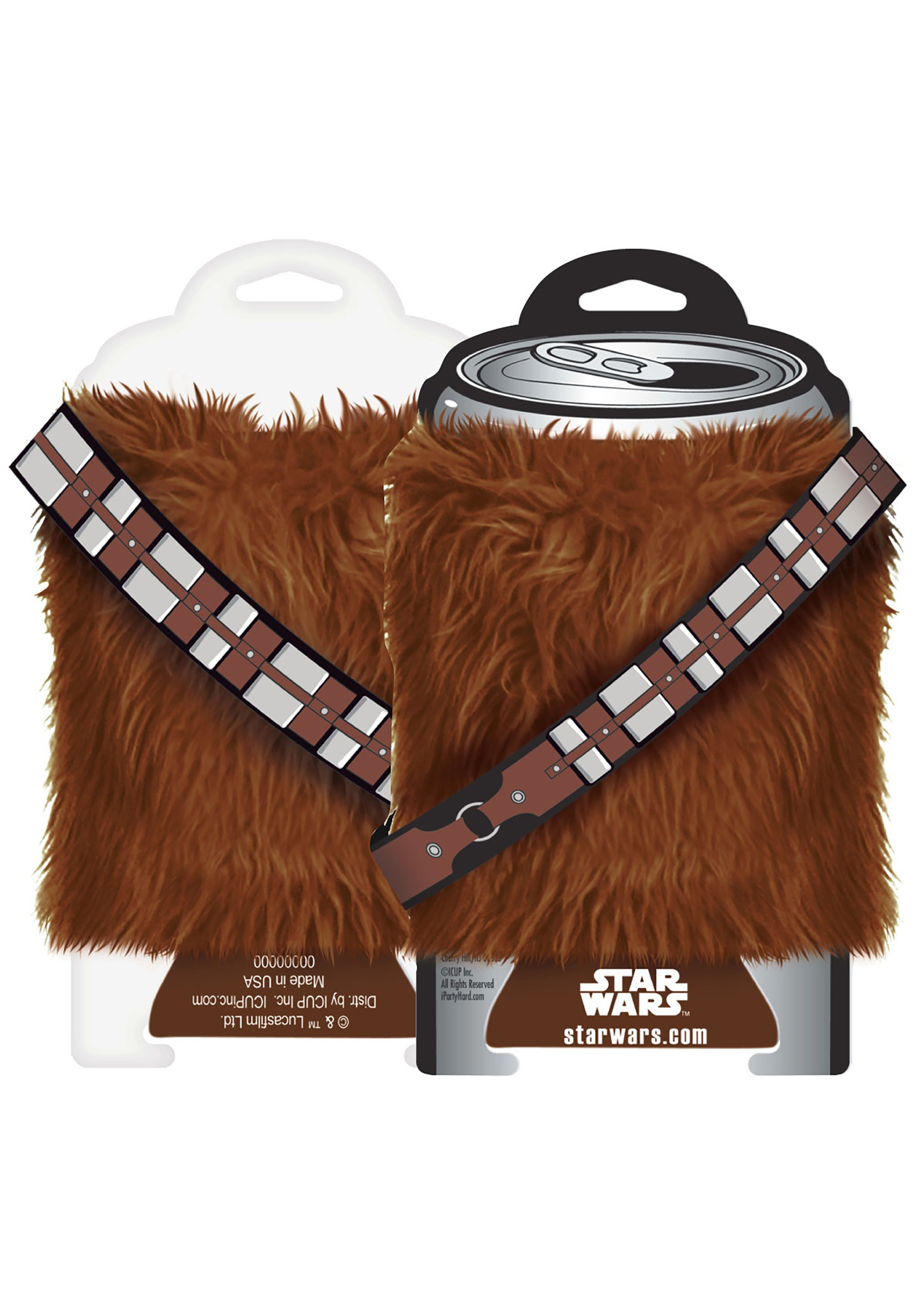 Star Wars Chewbacca Fur Can Cooler - Hoodie will turn you into chewbacca from star wars