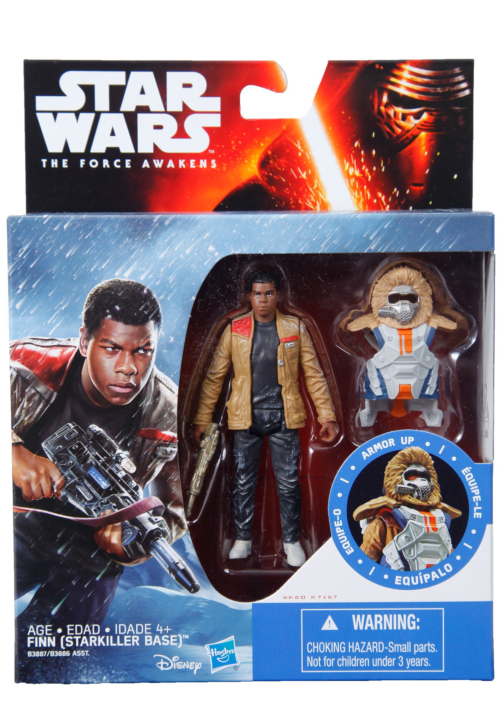 Disney Collectible Star Wars The Force Awakens Armor up Finn Action Figure