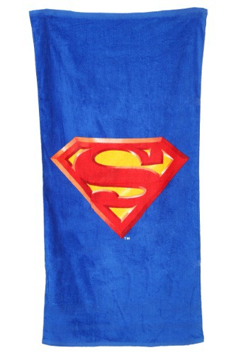 Superman Logo Beach Towel