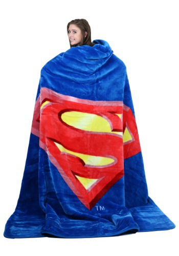 Superman Shield Queen Blanket