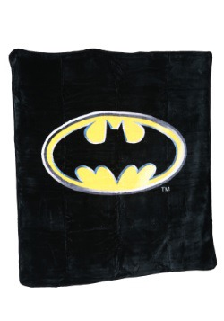 Batman Logo Plush Throw
