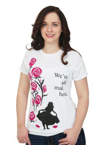 Alice In Wonderland All Mad Here Juniors T-Shirt