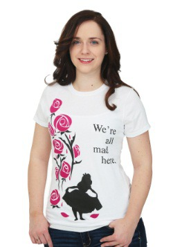 Alice In Wonderland All Mad Here Juniors T-Shirt