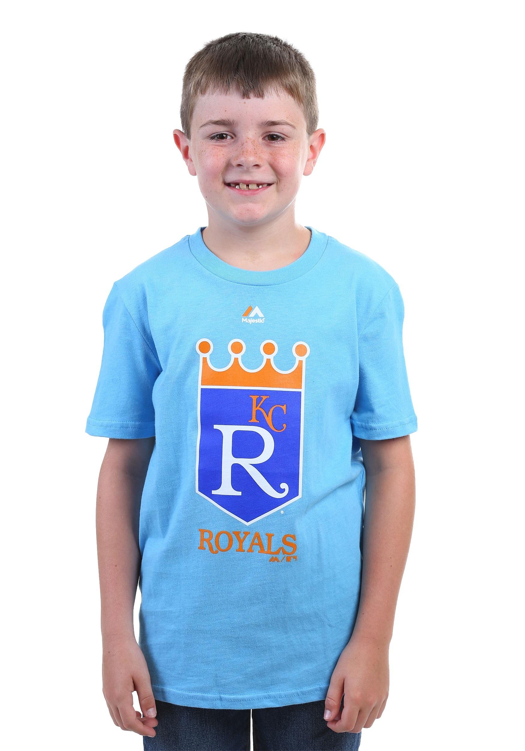 new arrival 47c20 b3b93 boys kansas city royals shirt