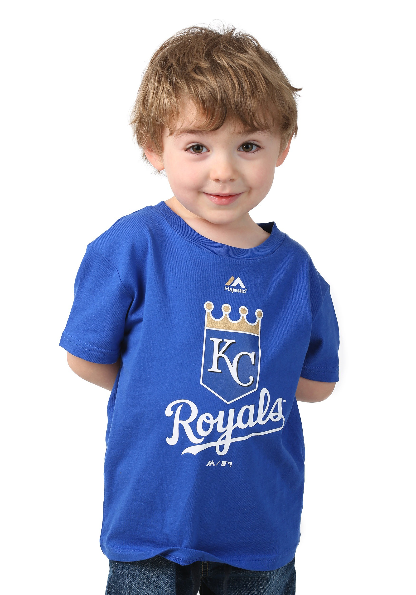 wholesale dealer dc3e2 19a9d Kansas City Royals Primary Logo Kids Shirt