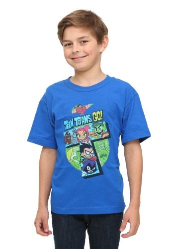 Fun.com - Teen Titans Go! Blue Youth T-Shirt Photo
