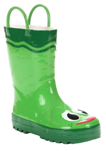 Green Frog Child Rainboots