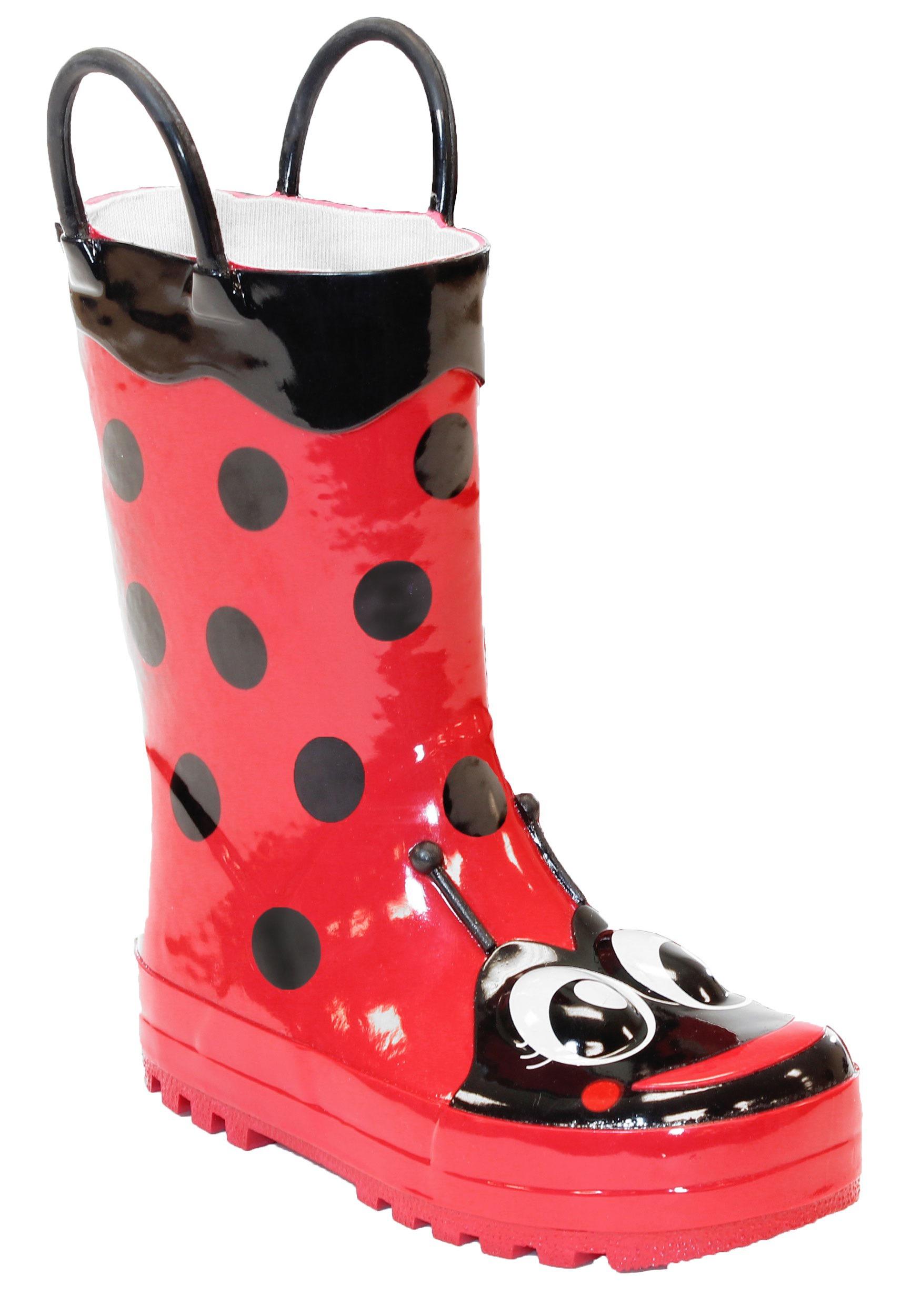 Red Ladybug Child Rain Boots
