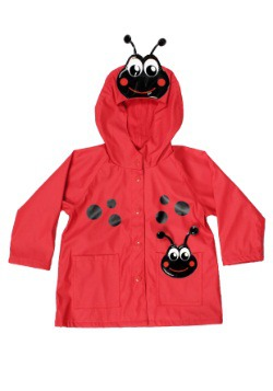 Red Ladybug Child Raincoat