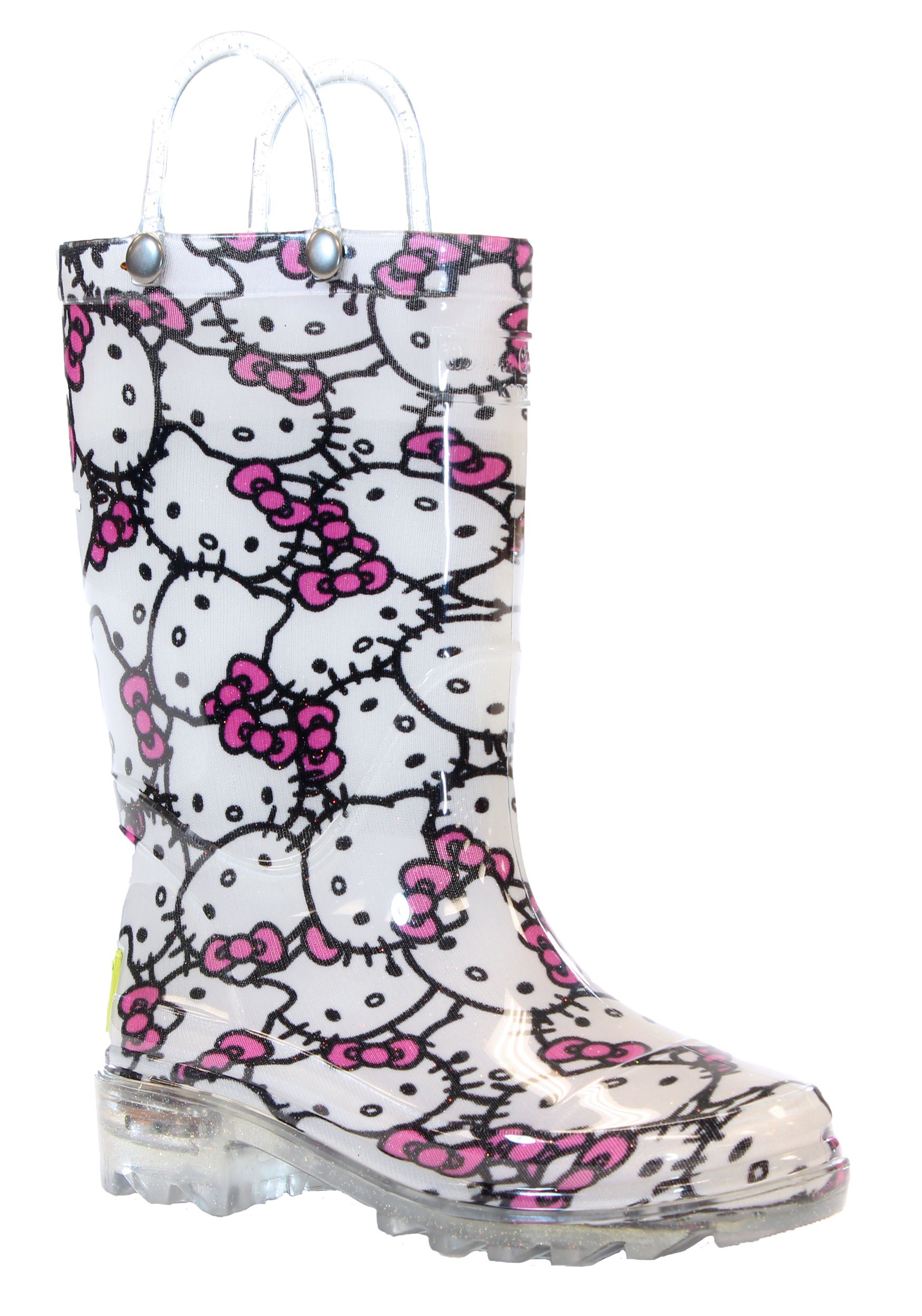 hello kitty child light up rainboots. Black Bedroom Furniture Sets. Home Design Ideas