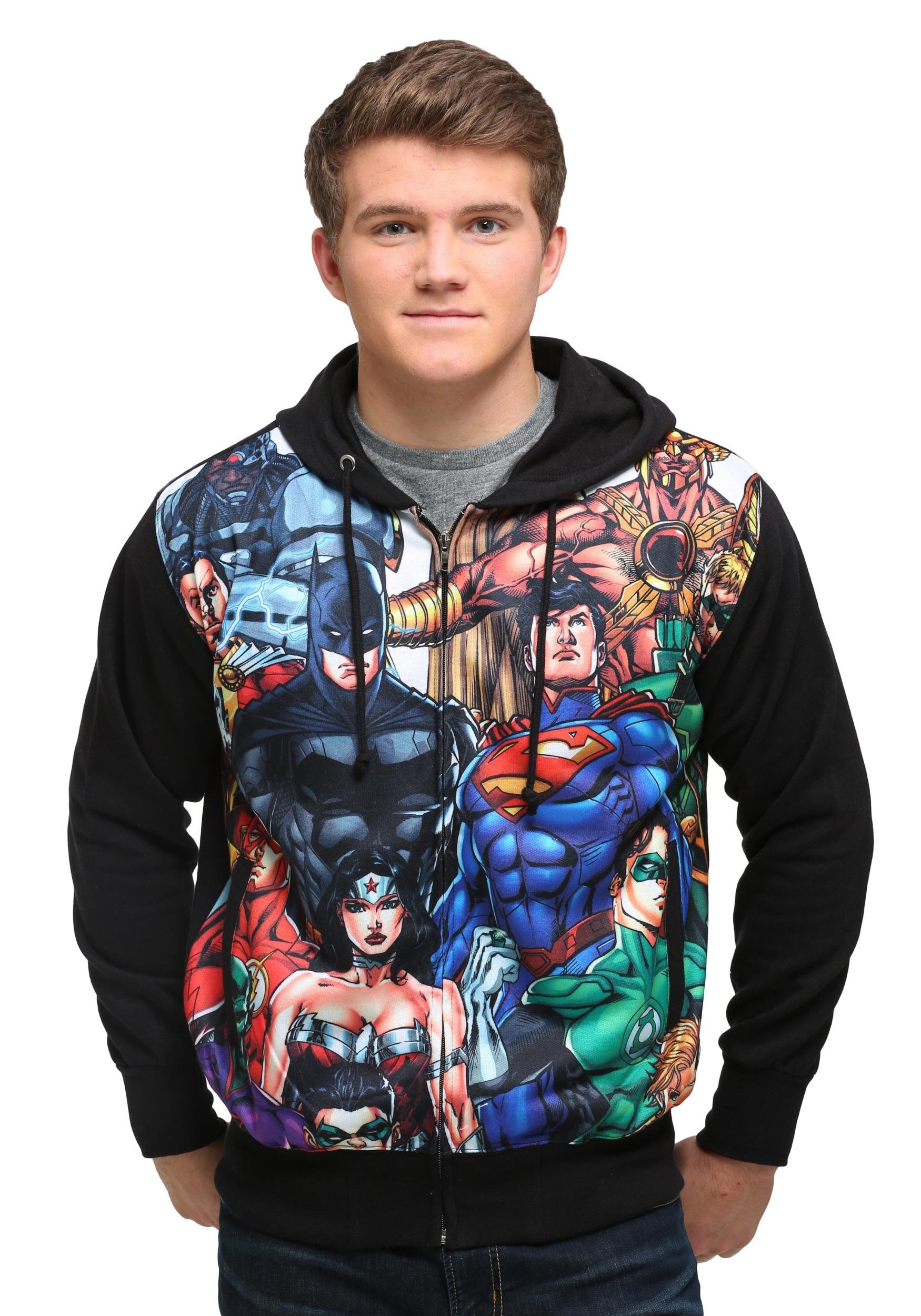 DC Comics Mens Justice League Boxes Sweater