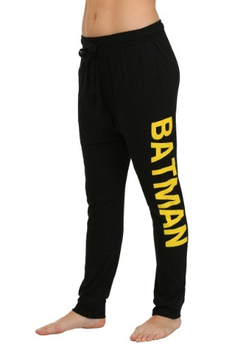 Batman Dual Logo Black Jogger Pants