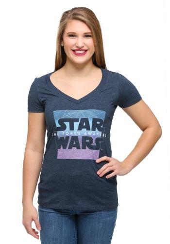 Women's Star Wars Ep 7 Prism Awakens V-Neck T-Shirt
