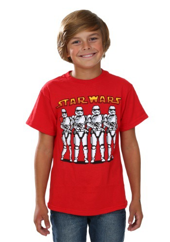 Boys Star Wars Episode 7 Pixel Trooper Line T-Shirt