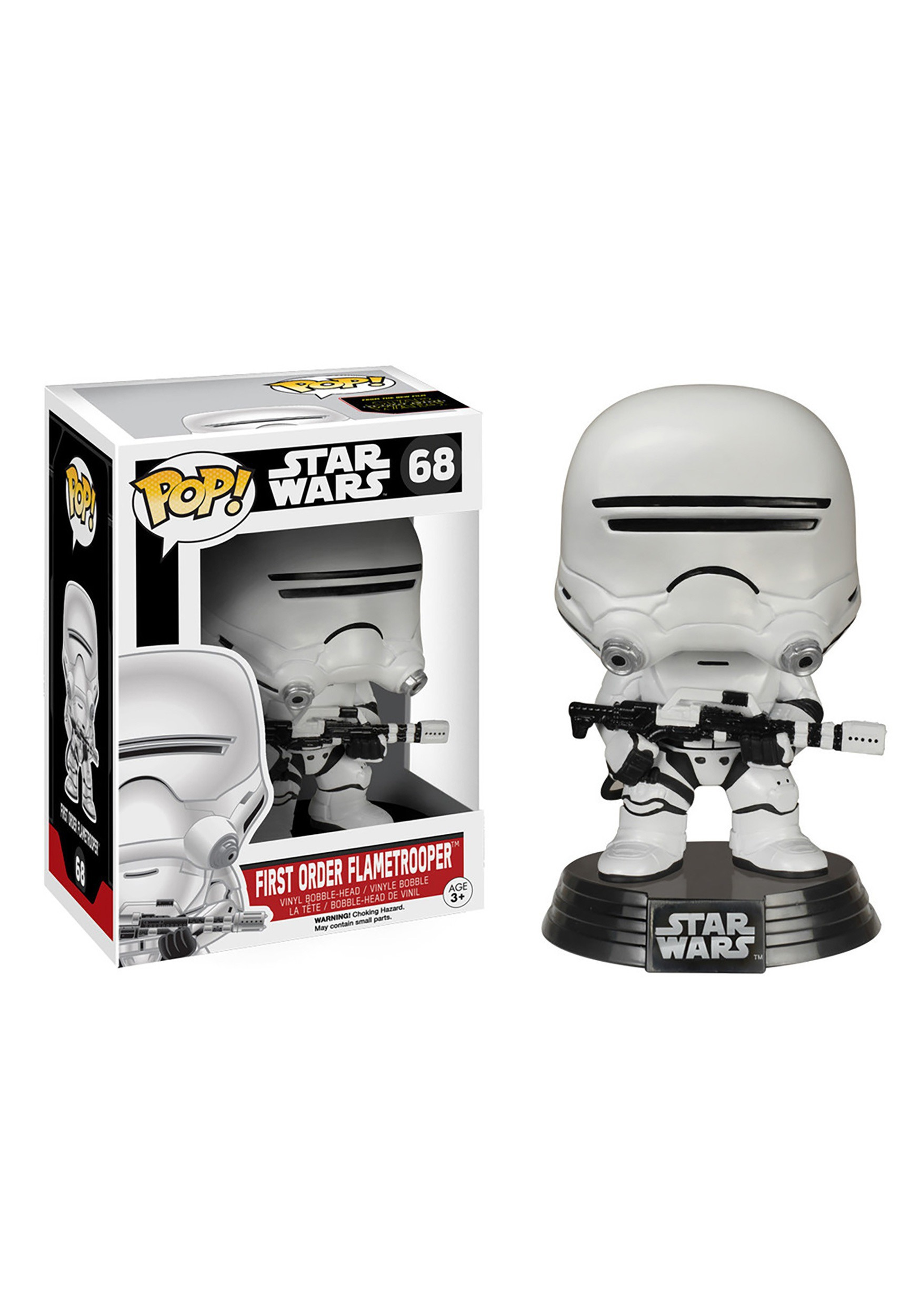 POP! Star Wars E7 First Order Flametrooper Bobblehead Figure FN6224