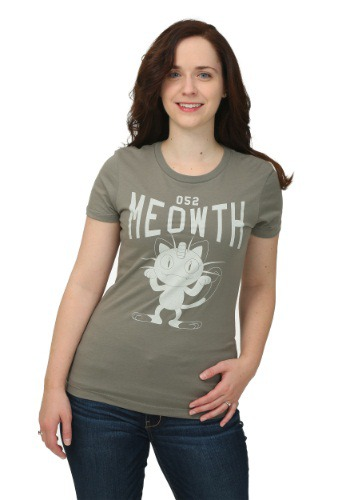 Pokemon Meowth Varsity Womens T-Shirt