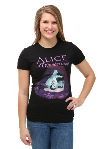 Alice In Wonderland Curiouser Cave Womens T-Shirt