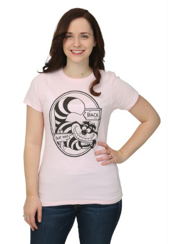 Alice In Wonderland That Way Cheshire Cat Juniors T-Shirt