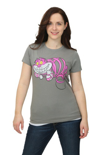 Alice In Wonderland Transparent Cheshire Womens T-Shirt
