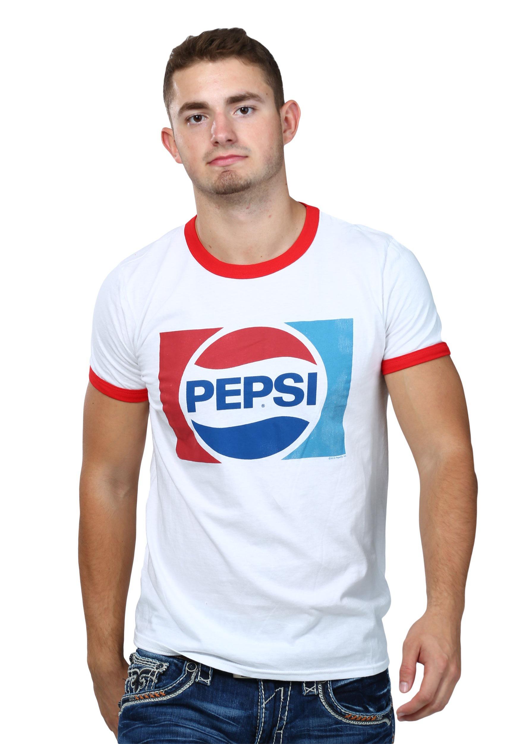 Pepsi 70s logo ringer t shirt pepsi logo mens ringer shirt sciox Image collections