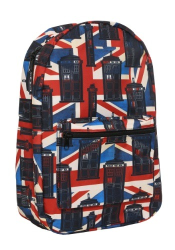 Doctor Who Union Jack Backpack BWBQ2CG9DRW00RE00