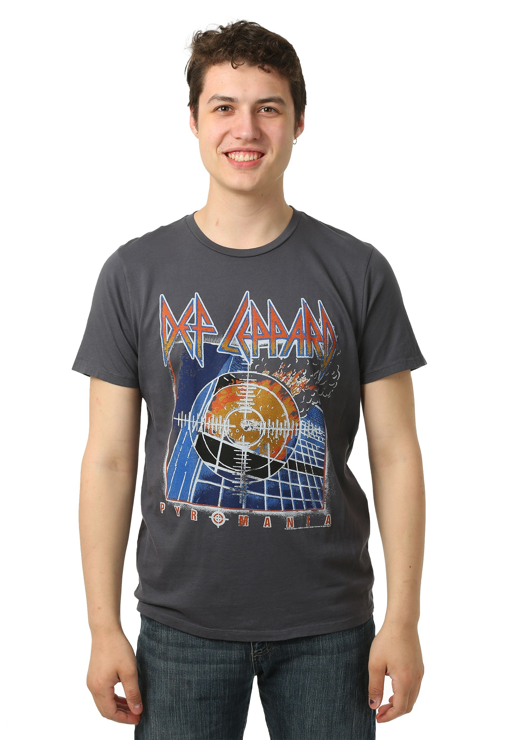 Def leppard pyromania front and back men 39 s t shirt for Band t shirt designs for sale
