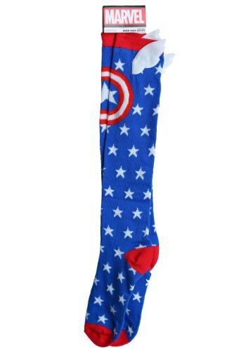 Captain America Knee High Socks with WIngs