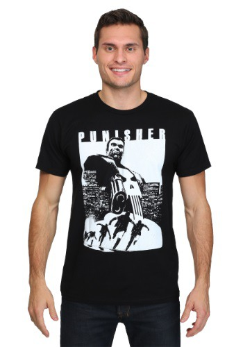 Punisher Try and Run Men's Black T-Shirt