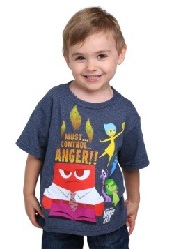 Inside Out Anger Control Kids Navy Heather T-Shirt