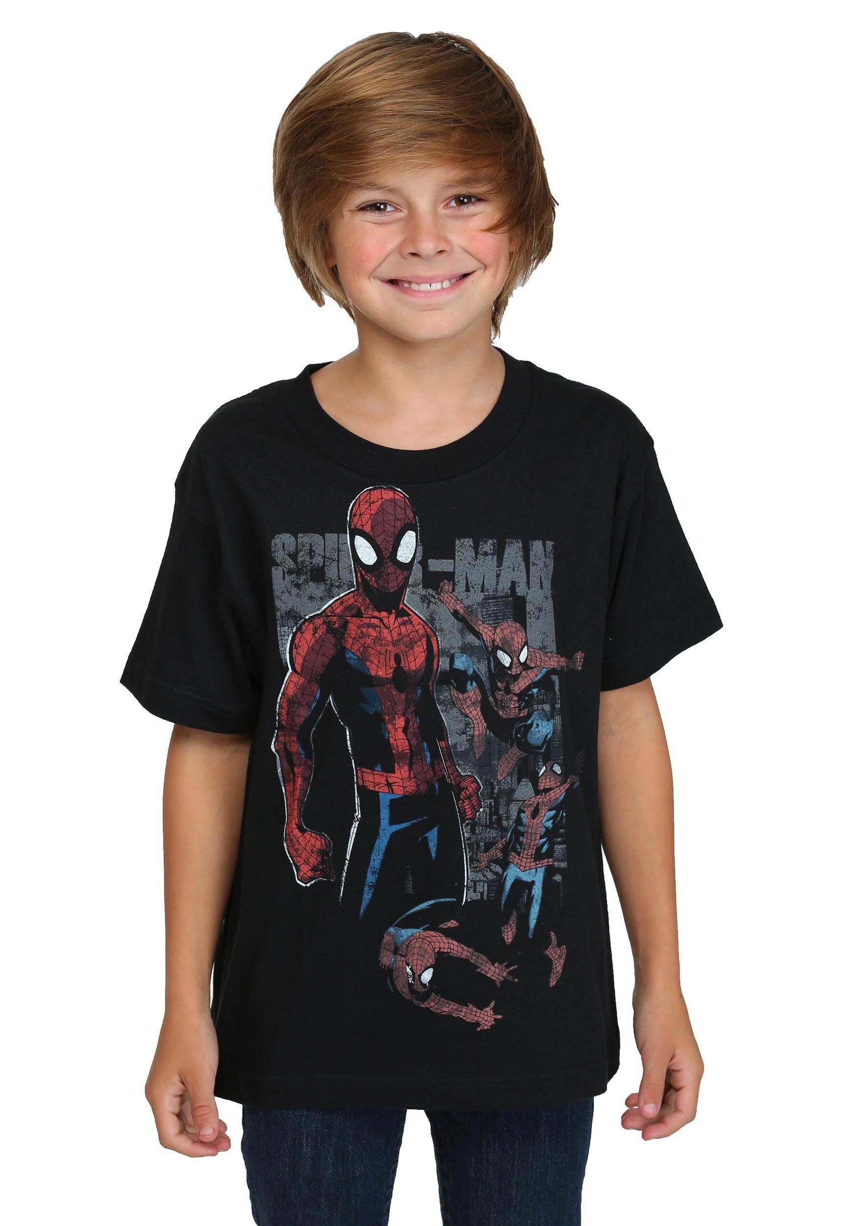 Kids Spider-Man Multi Webs T-Shirt MAMVFC2BBYSC3P1XX