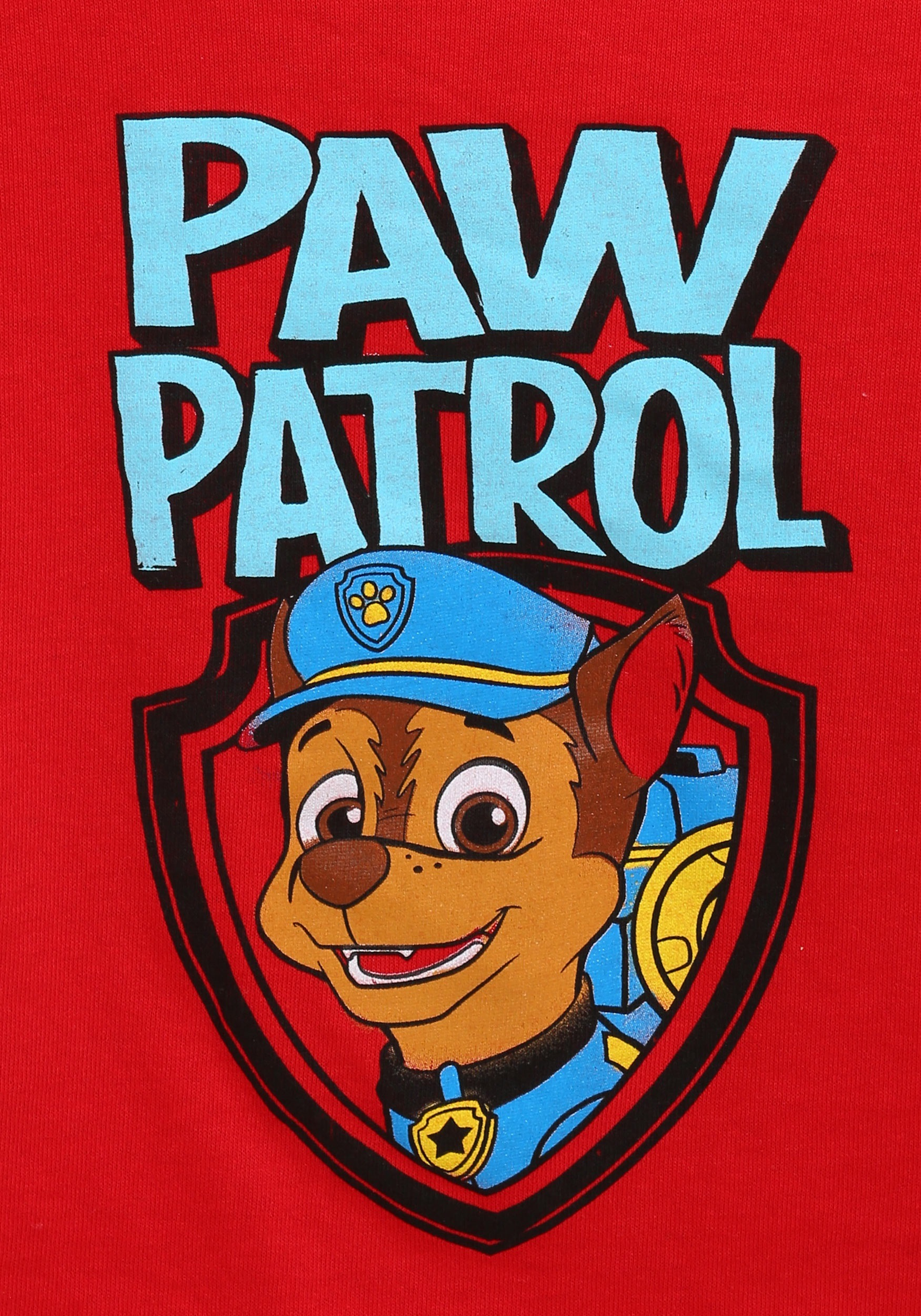 paw patrol chase face toddler boys tshirt