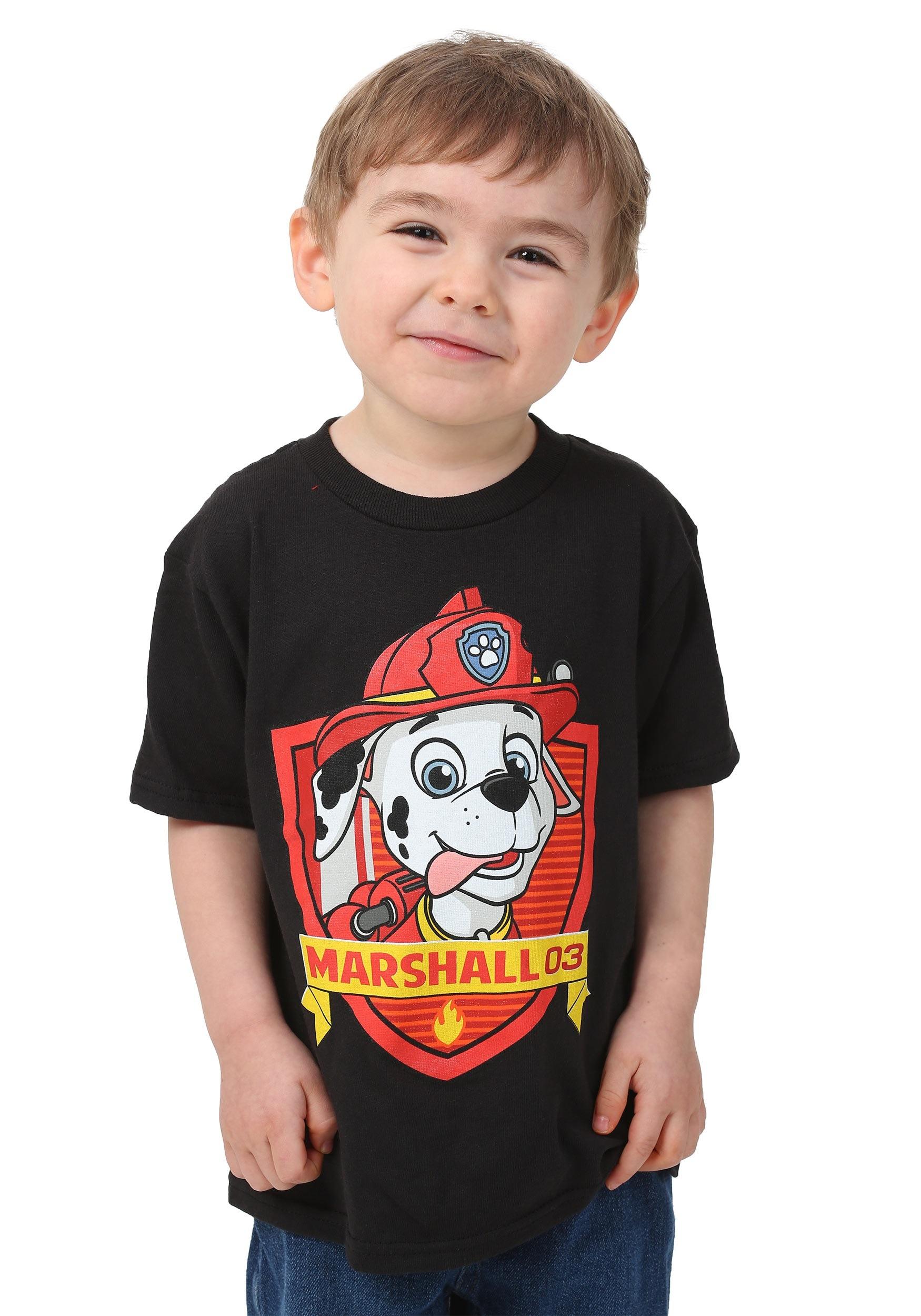 Toddler Boy Long Blonde Hair Surfer: Paw Patrol Marshall Face Toddler Boys