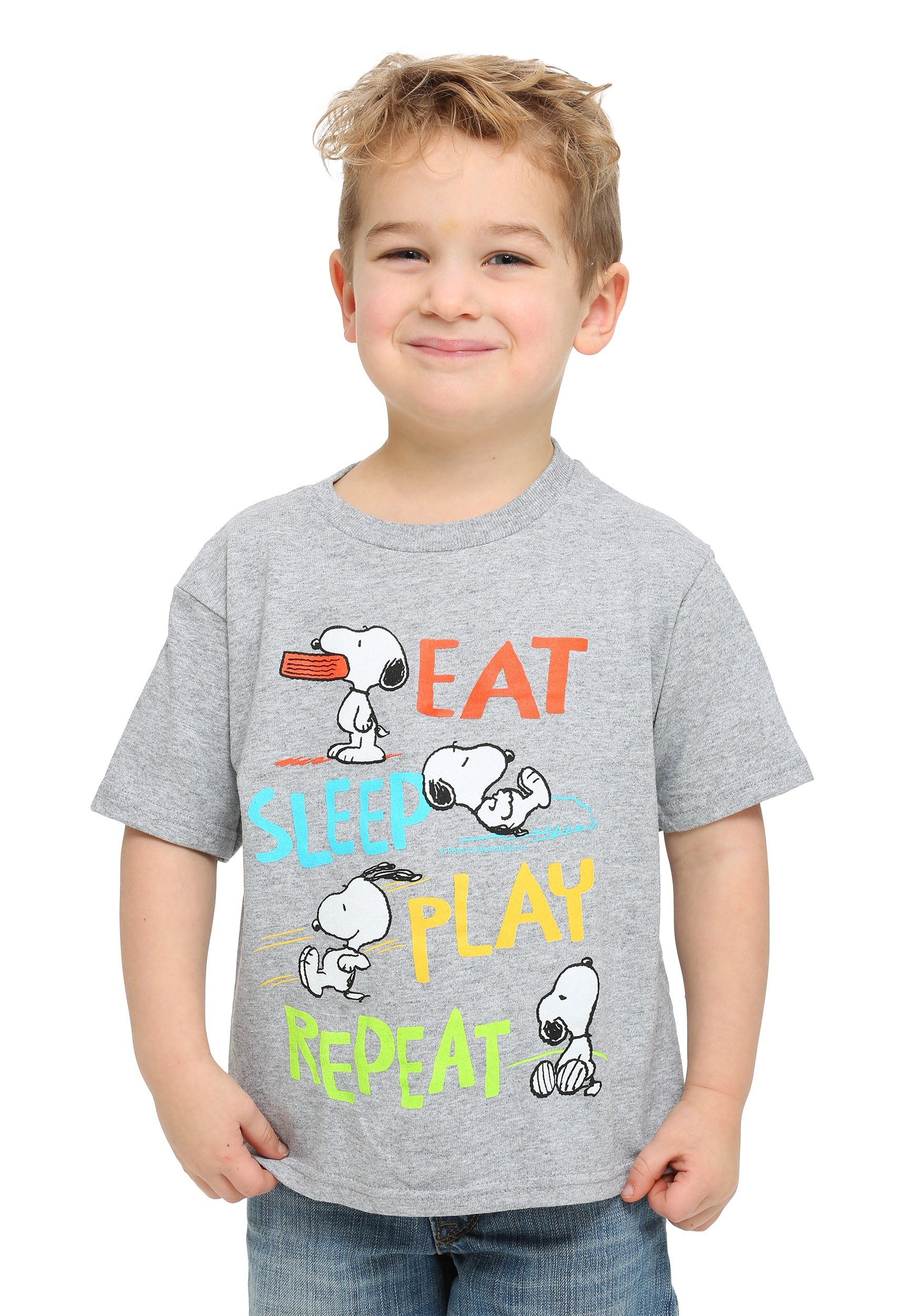 Peanuts Snoopy Eat Sleep Play Toddler Boys T Shirt