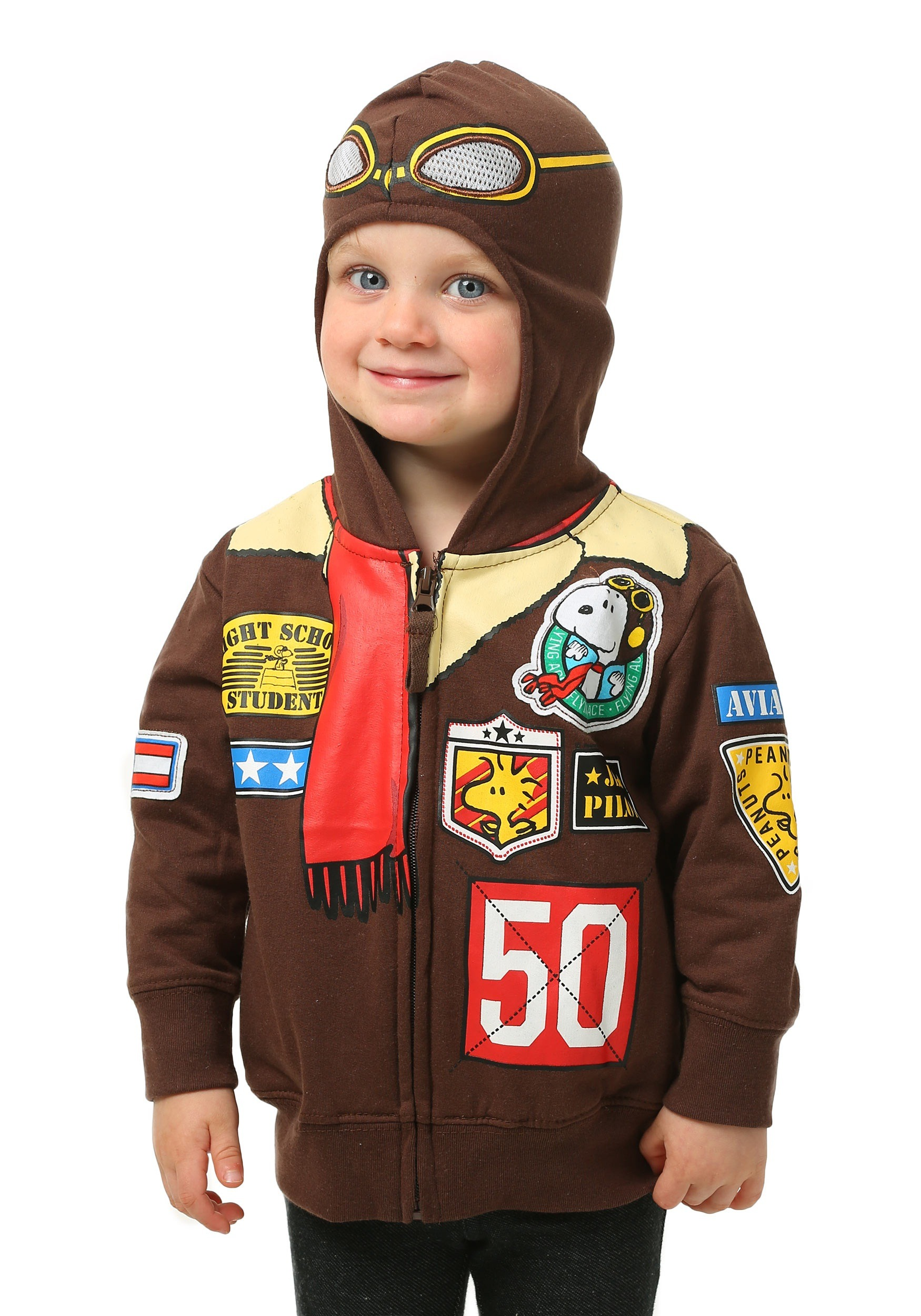 Peanuts Toddler Boys Snoopy Bomber Jacket Hooded Sweatshirt FZPVSBF98