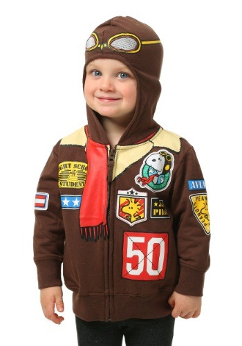 Peanuts Toddler Boys Snoopy Bomber Jacket Hooded Sweatshirt FZPVSBF98-2T