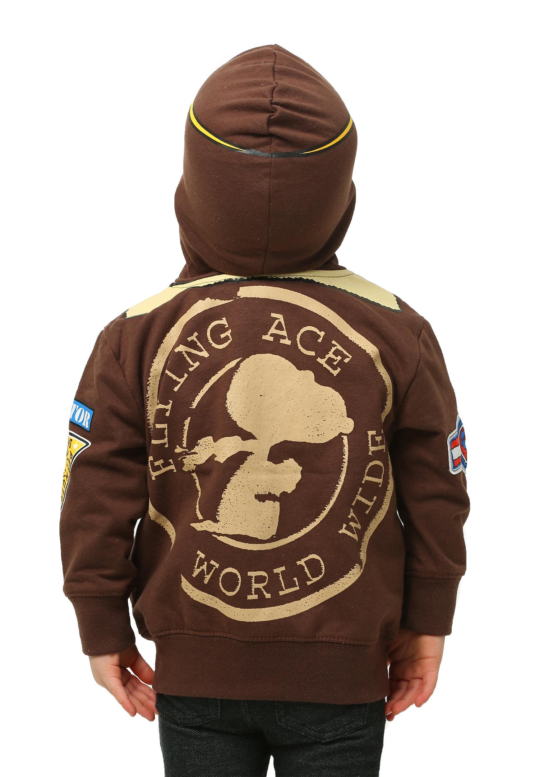 4b2b16cb Peanuts Toddler Boys Snoopy Bomber Jacket Hooded Sweatshirt