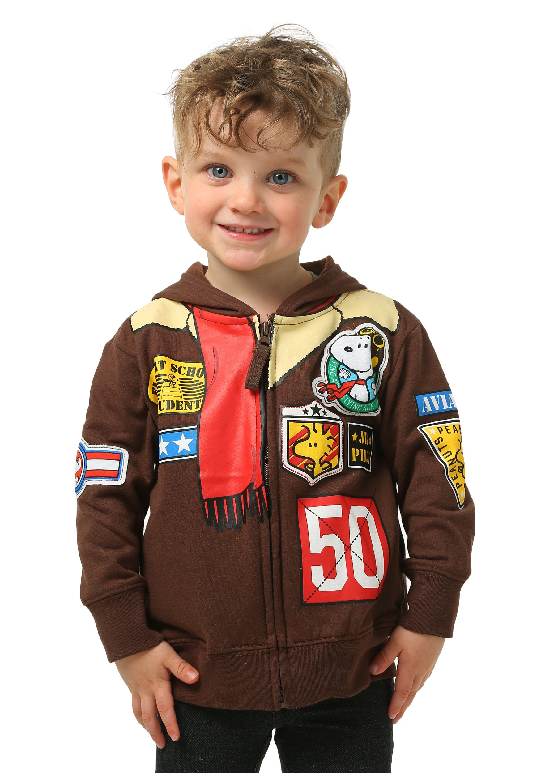 Peanuts Toddler Boys Snoopy Bomber Jacket Hooded