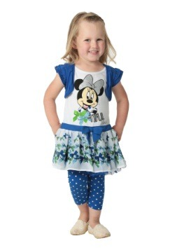 Minnie Mouse Girls Blue Top & Leggings