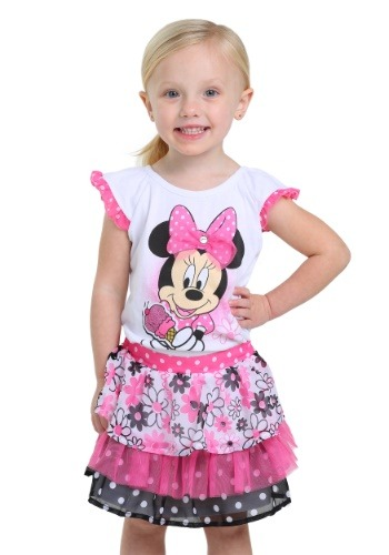 Minnie Mouse Ice Cream Girls Scooter Dress Set