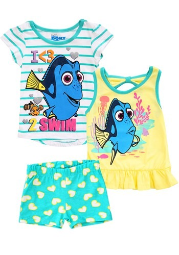 Finding Dory I Love 2 Swim 3 Piece Set CAP4PD7869-2T