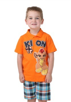 Kion Lion Guard Toddler Tee with Plaid Shorts