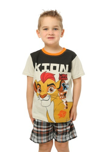 Lion King Kion Brown Toddler T-Shirt with Plaid Shorts