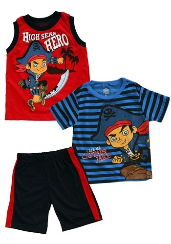 Jake & the Neverland Pirates Toddler 3 Piece Muscle Tee Set