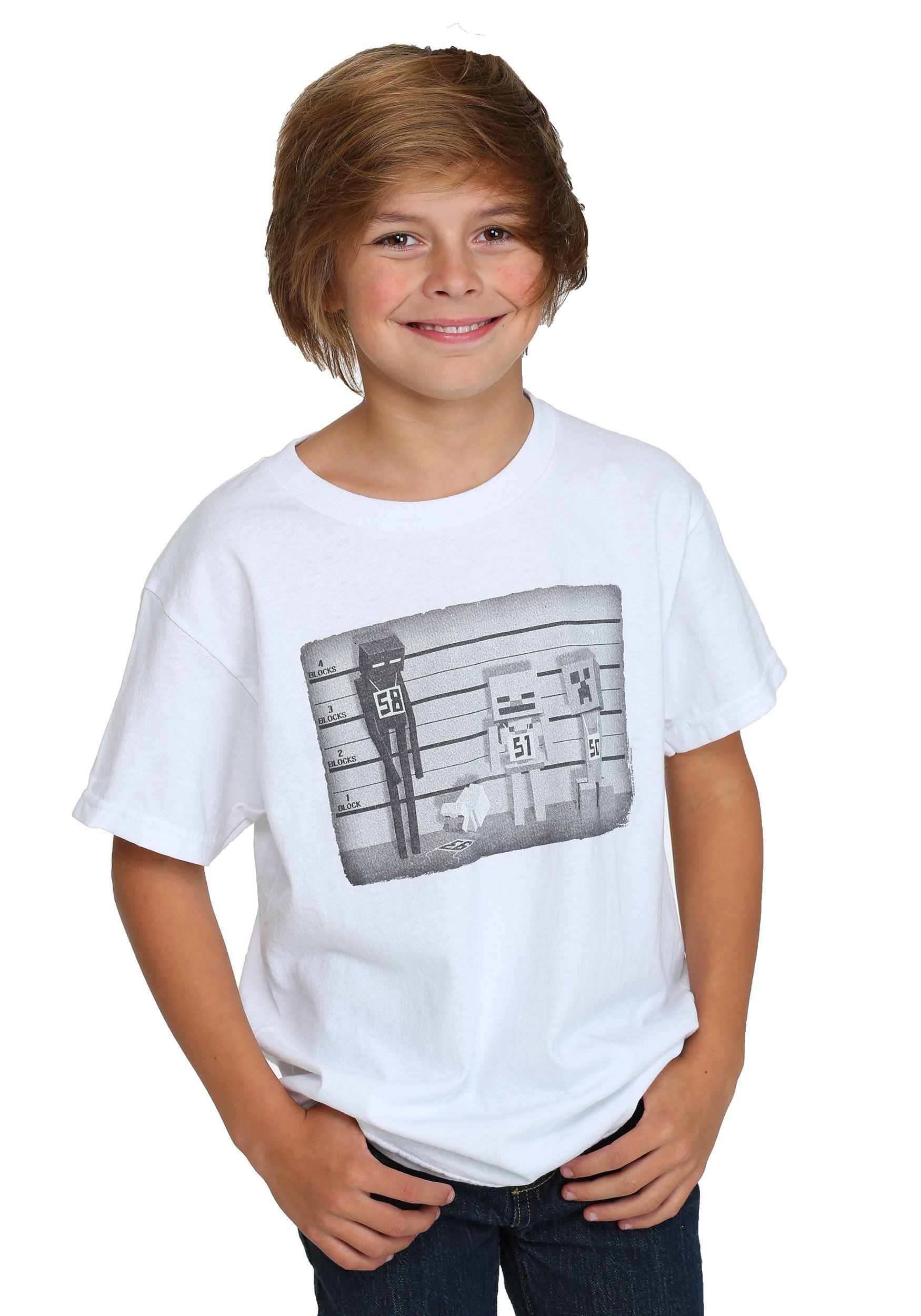 Minecraft gifts minecraft lineup boys t shirt gamestrikefo Choice Image
