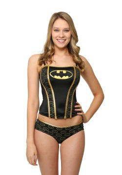 Batman Printed Corset And Panty Set