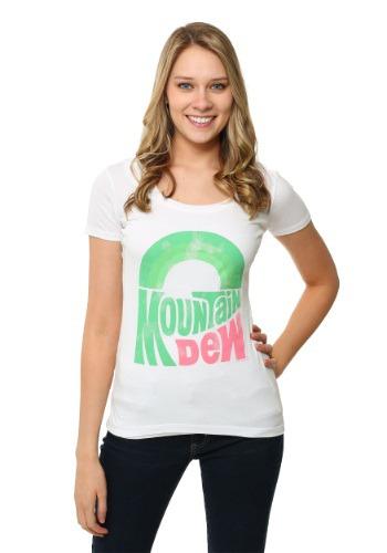 Womens Mountain Dew Scoop Neck TShirt UPD